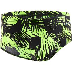 Brede zwemslip voor jongens 900 Side Alrif groen