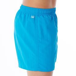 Badehose Swimshorts 100 Jungen blau