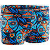 500 PRINT BOYS' BOXER SWIM SHORTS - ALL OWLA ORANGE