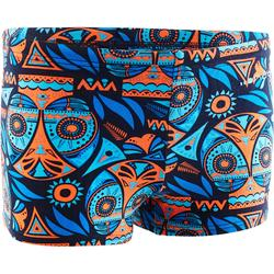 Badehose Boxer 500 Print All Owla Jungen orange