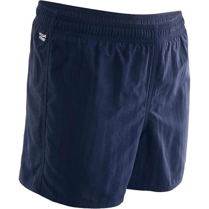 Schwimmshorts 100 Jungen dunkelblau