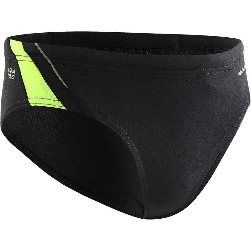 900 YOKE BOYS' SWIM BRIEFS  BLACK GREEN BLUE