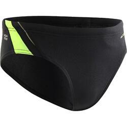 男童游泳三角褲 900 YOKE - 黑色/綠色/藍色