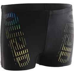 Zwemboxer voor jongens Flash zwart/geel