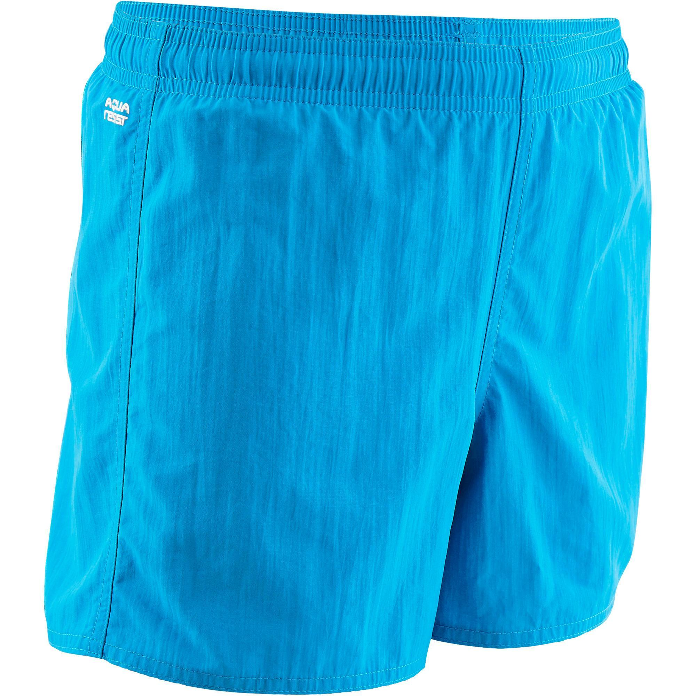 Nabaiji Zwemshort voor jongens Swim Short 100 blauw