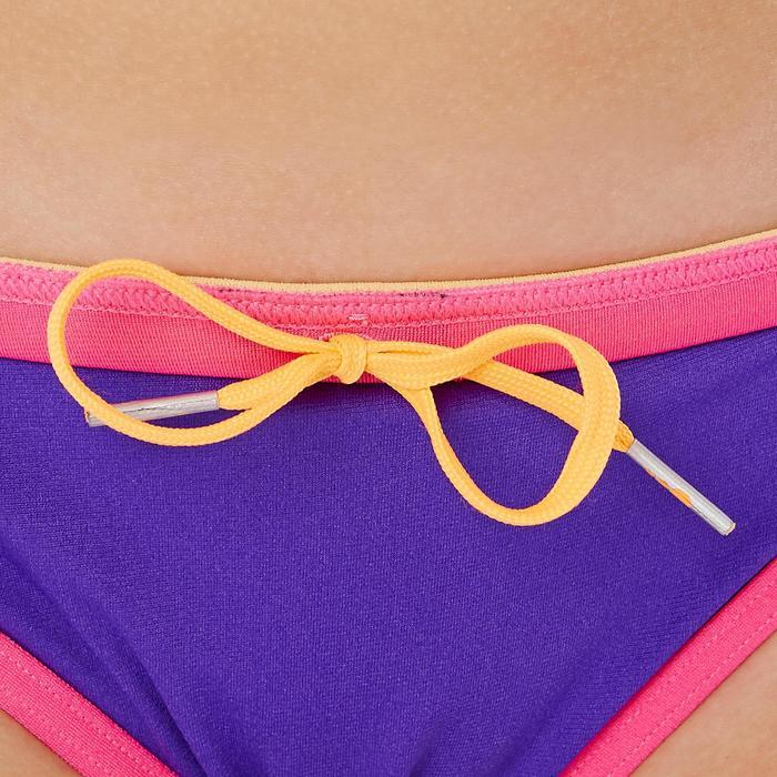 Choorbestendige zwemslip meisjes Jade paars/roze