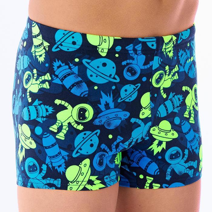 Zwemboxer voor jongens 500 print All Astro groen