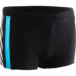 Badehose Boxer 500 Yoke Allice Jungen schwarz