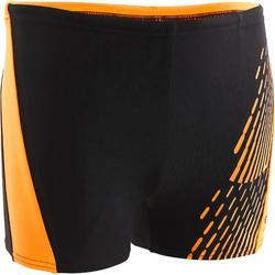 Badehose Boxer Dev Jungen schwarz/orange