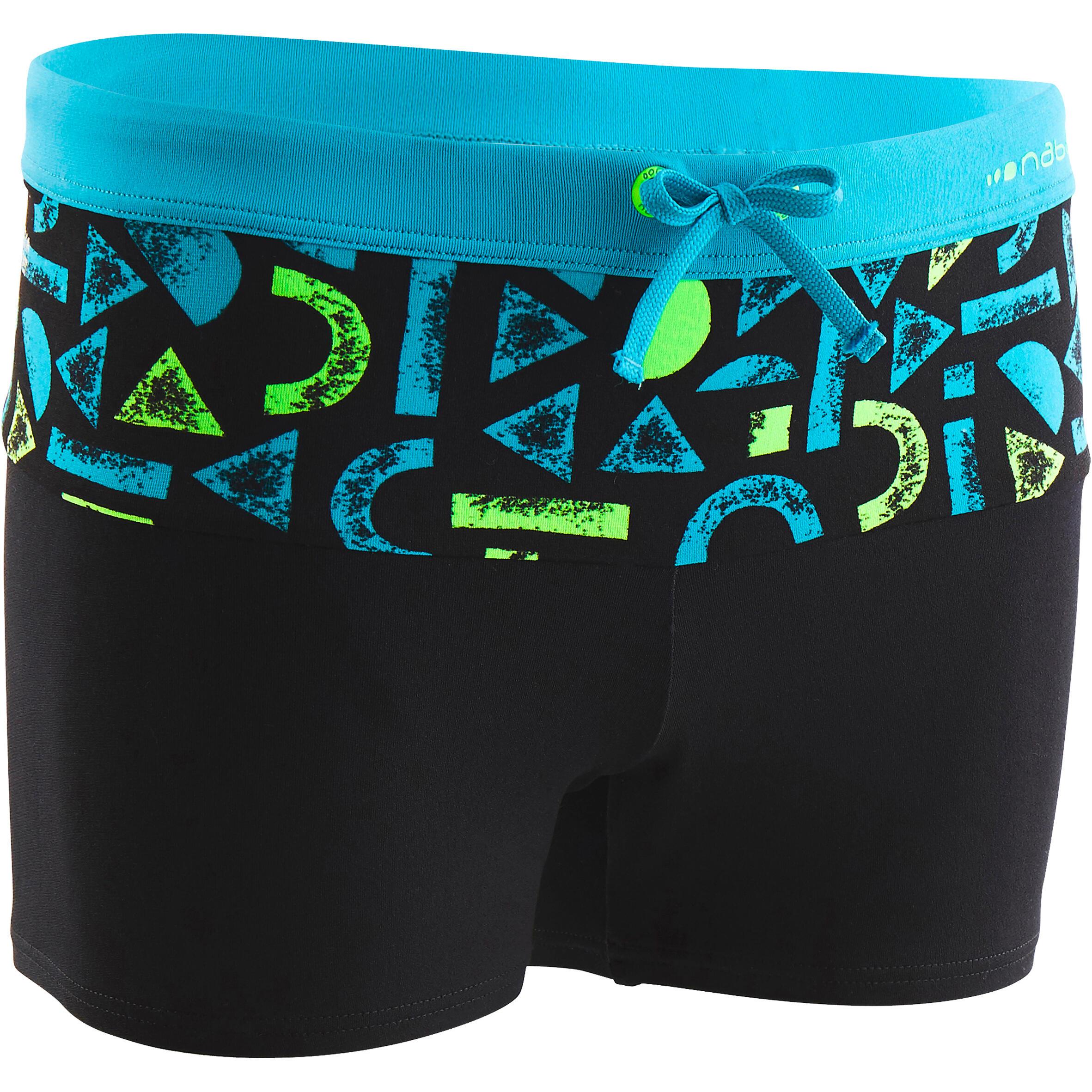 Jungen,Kinder Badehose Boxer 500 B Pool Allroc grün | 03583788144021