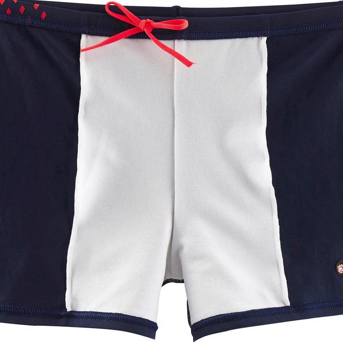 Zwemboxer jongens marineblauw/rood
