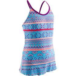 Badeanzug Riana Dress Plum Mädchen türkis/violett