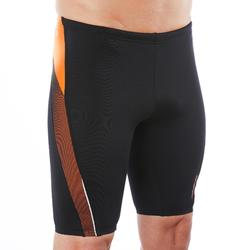 MAILLOT DE BAIN NATATION HOMME JAMMER 500 FIRST NOIR MESH ORANGE