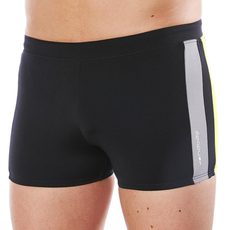 maillot de bain homme boxer 500 yoke noir vert decathlon. Black Bedroom Furniture Sets. Home Design Ideas