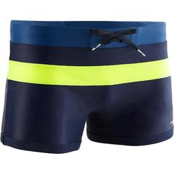 Zwemboxer heren 550 Pool blauw/geel