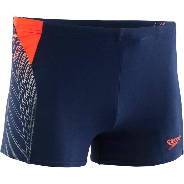 Zwemboxer heren marineblauw/rood