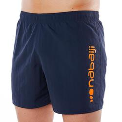 Zwemshort voor heren 100 Basic marineblauw/oranje