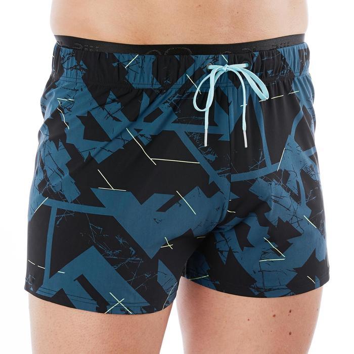 男款四角泳褲100-藍色
