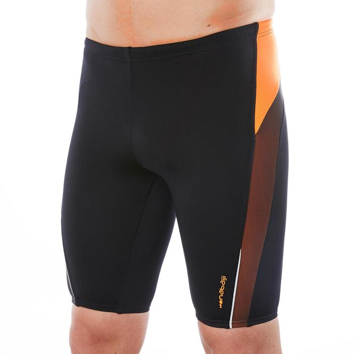 Badehose Jammer 500 First Mesh Herren schwarz/orange