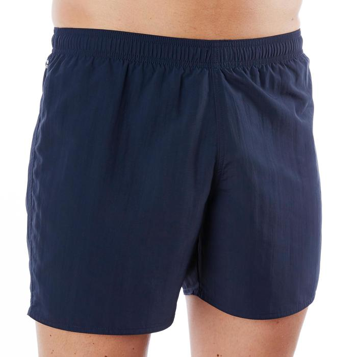 Schwimmshorts 100 Basic Herren marineblau/orange