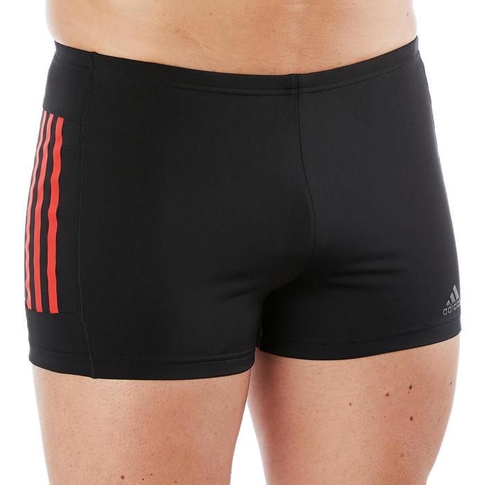 Zwemboxer 3 strepen voor heren zwart/rood