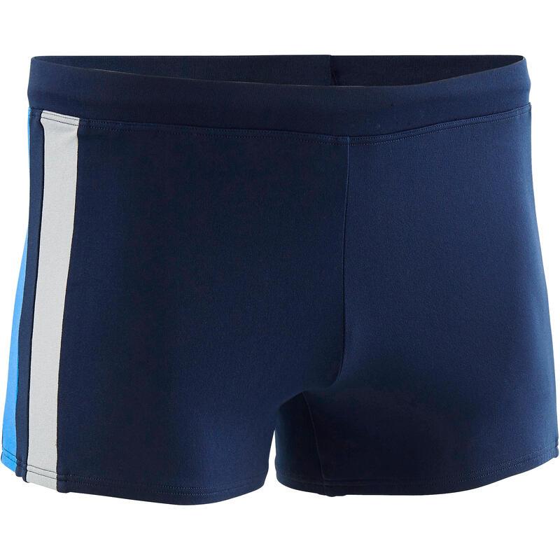 Boxeri înot YOKE 500 Albastru-Gri Bărbați