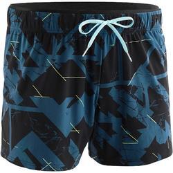 男款游泳短褲150 C M - 藍色