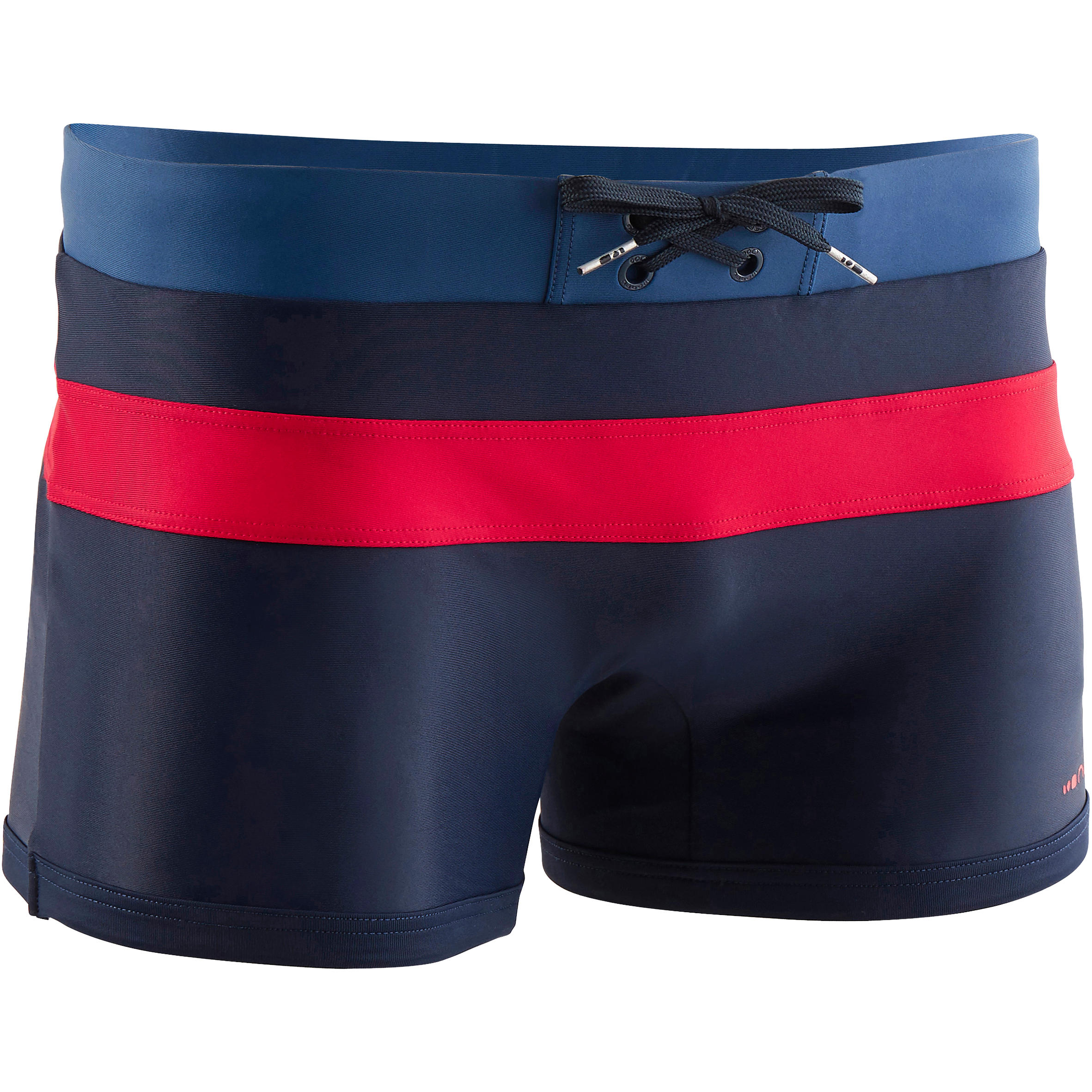 550 POOL M MEN'S BOXER SWIM SHORTS - NAVY/RED