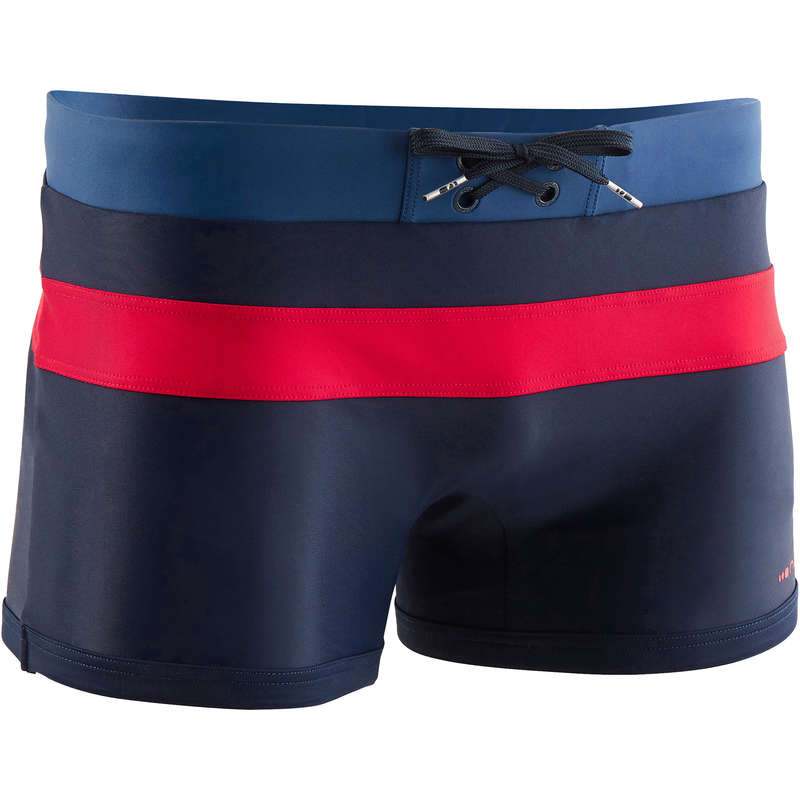 MEN'S SWIMSUITS Swimming - 550 POOL M BOXER - NAVY/RED NABAIJI - Swimwear