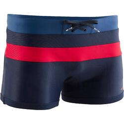 Zwemboxer heren 550 Pool marineblauw rood