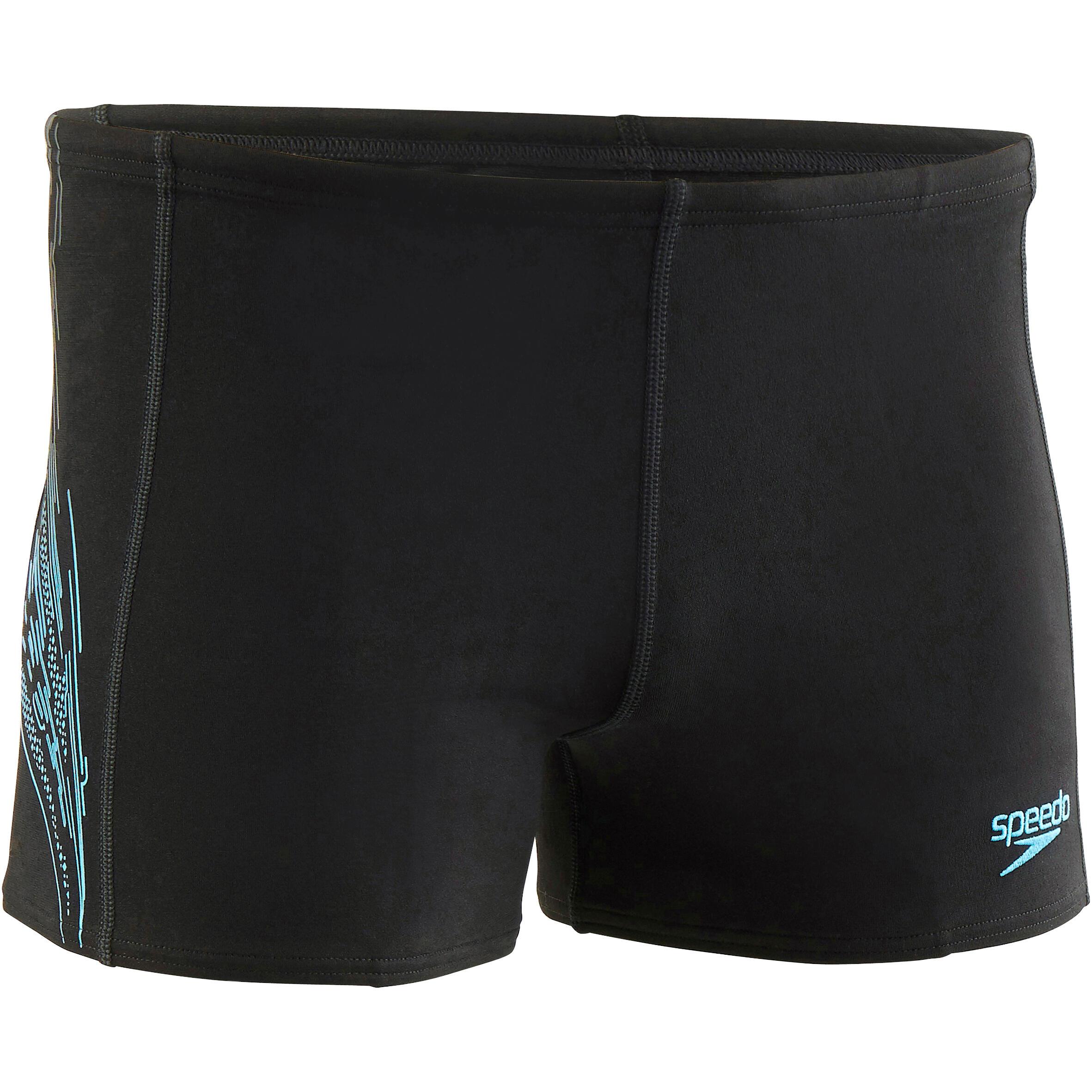 Speedo Zwemboxer voor heren met print zwart/blauw