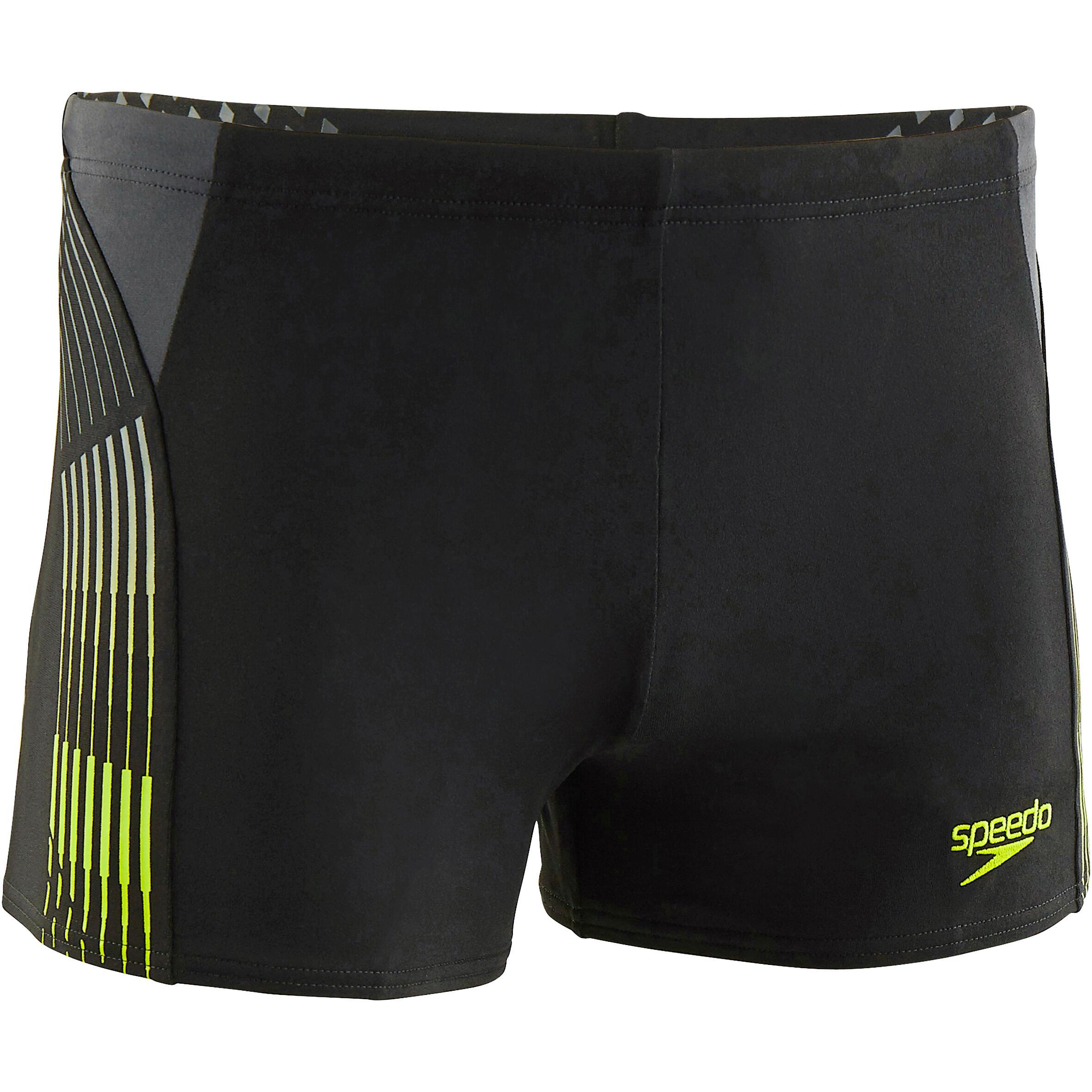 Speedo Zwemboxer voor heren met print zwart/geel