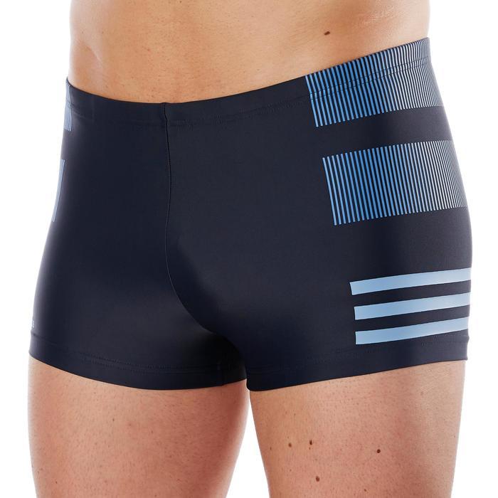 Badehose Boxer Herren marineblau/blau