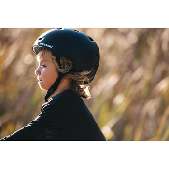 Fahrradhelm 500 Kinder schwarz
