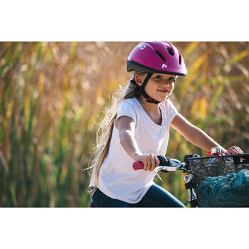 Fahrradhelm Kinder 300 rosa