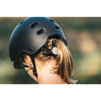 Casque roller skateboard trottinette MF500 gris