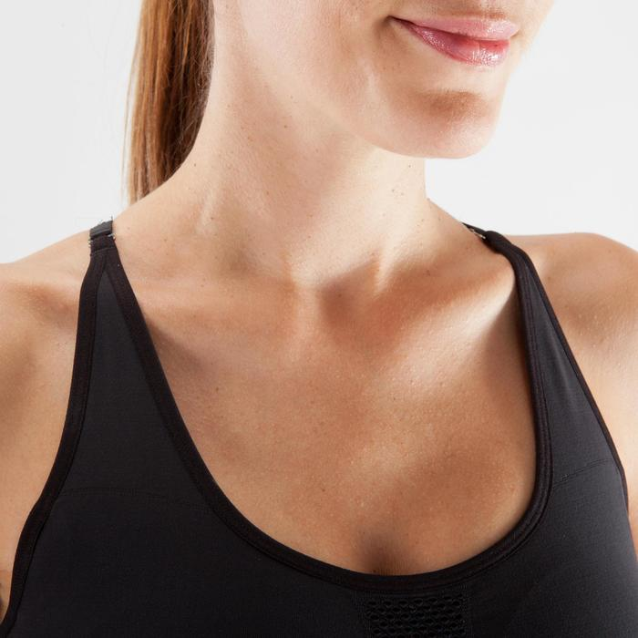 Bustier Yoga nahtlos Damen schwarz/silber