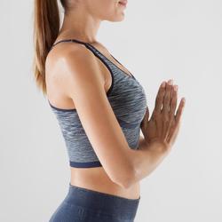 Bustier Yoga nahtlos Damen blau