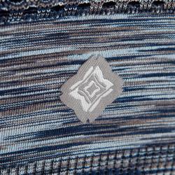 Sujetador-top YOGA reversible sin costura mujer azul