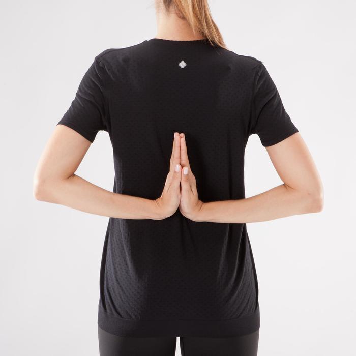 T-Shirt Yoga nahtlos Damen schwarz