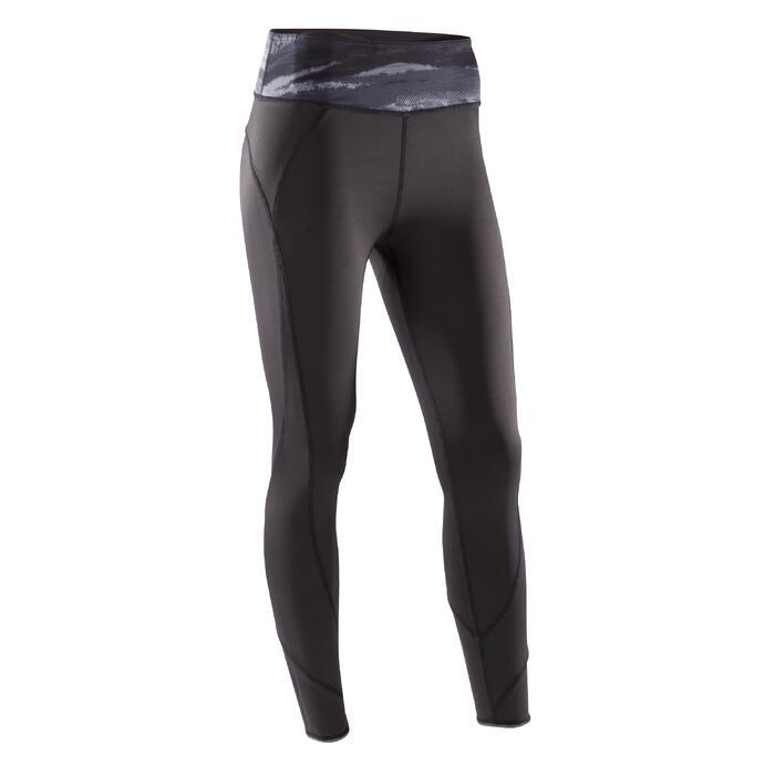 Legging réversible YOGA+ 920 femme noir / blanc print