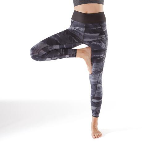 14528732d21 legging reversible yoga 920 femme noir blanc print domyos by decathlon 8483986 1295374.jpg