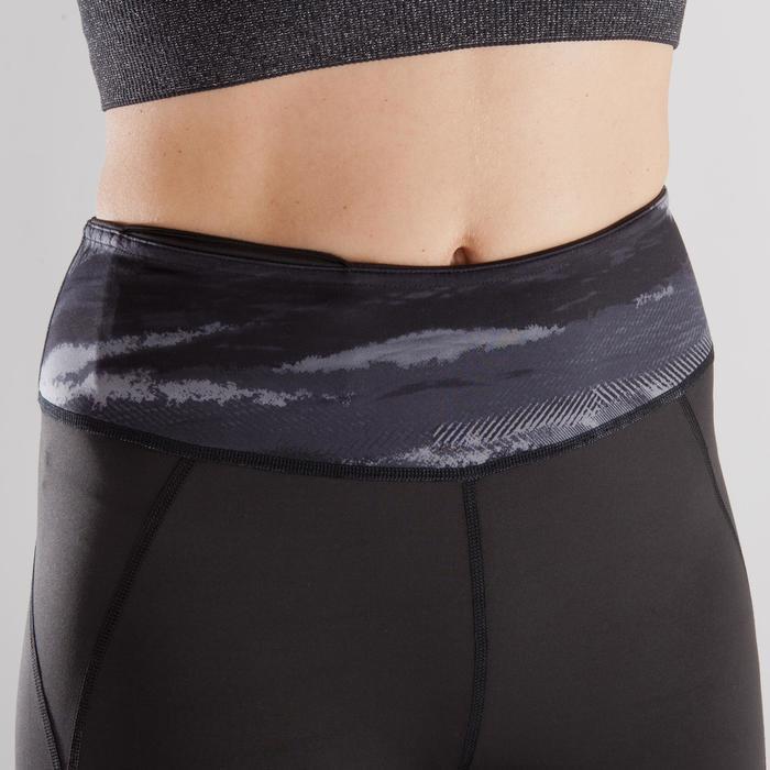 Omkeerbare legging Yoga+ 920 voor dames zwart / wit print