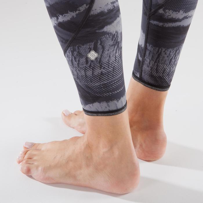Leggings Yoga+ 920 wendbar Damen schwarz/weiß print
