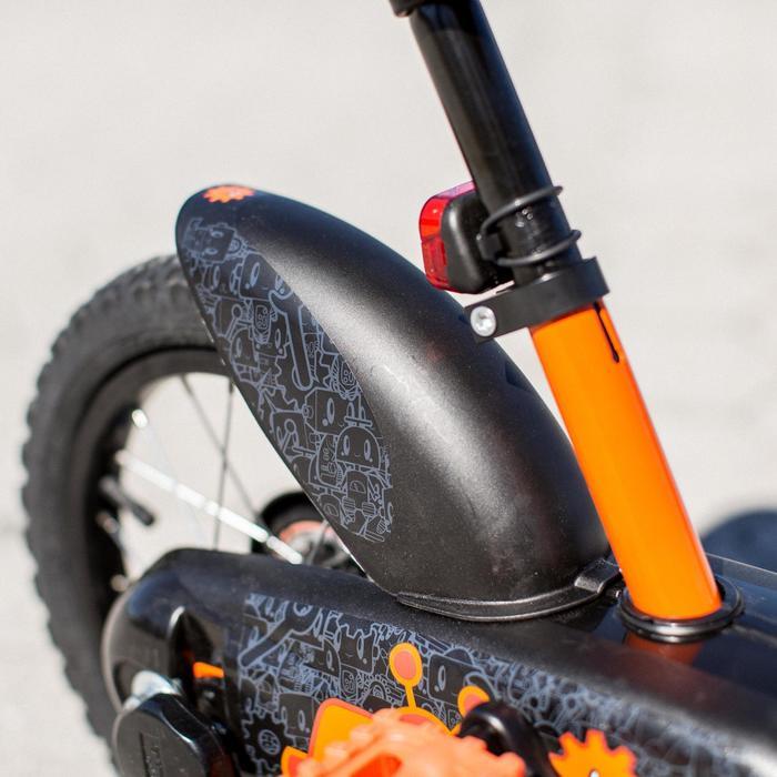 "Kit Guardabarros Bicicleta Infantil 14"" Pulgada Negro"