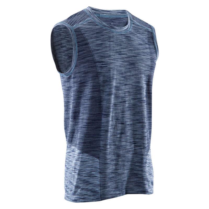 ABBIGLIAMENTO YOGA UOMO Yoga - Canotta uomo yoga 500 blu DOMYOS - Abbigliamento yoga