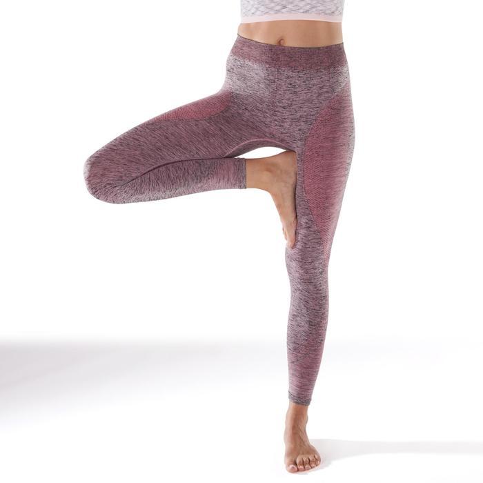 Legging YOGA sans coutures femme 7/8 chiné - 1295448