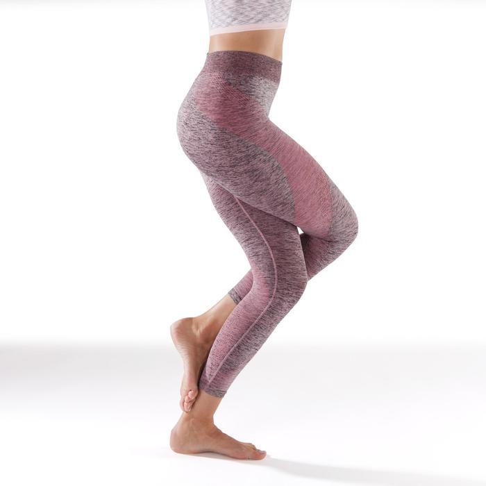 Legging YOGA sans coutures femme 7/8 chiné - 1295453