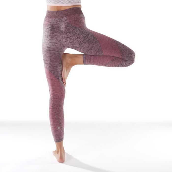Naadloze 7/8-yogalegging voor dames gemêleerd roze