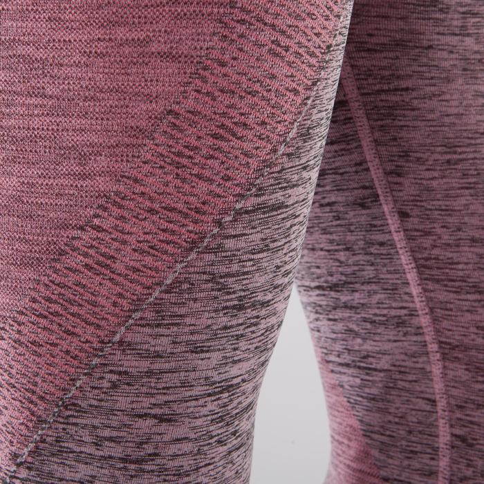 Legging YOGA sans coutures femme 7/8 chiné - 1295456